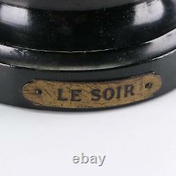 Late 19th Century L&F Moreau Art Nouveau Spelter Figurines Le Soir and Le Matin