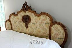 Late 19th Century Louis XV Style Headboard Fitted to a King-Sized Bed