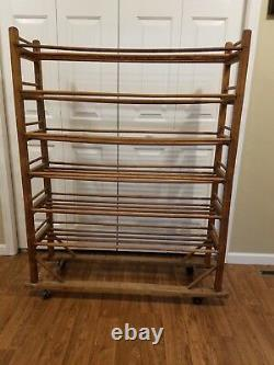 Late 19th Century Oak Industrial Cobblers Rack