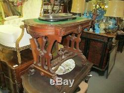 Late 19th Century Renaissance Revival Victorian Walnut Library Table