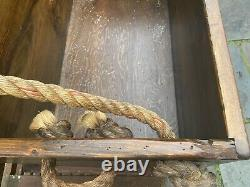 Late 19th Century Sailors Sea Chest Trunk Rope Work