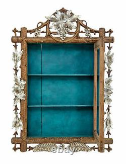 Late 19th Century Small Black Forest Display Cabinet