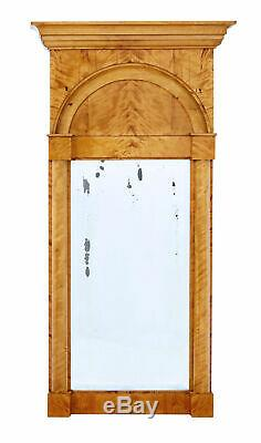 Late 19th Century Swedish Empire Revival Birch Pier Mirror