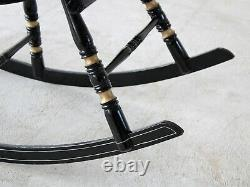 Late 19th Century Swedish Hand-Painted'Gungstol' Rocking Chair