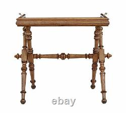 Late 19th Century Victorian Golden Oak Butlers Tray On Stand