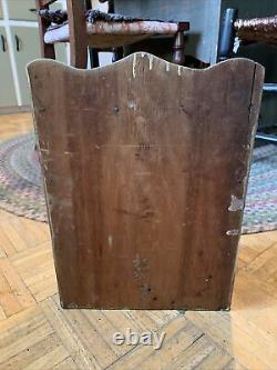Late 19th/ Early 20th Century Green Painted Spice Cabinet Sweet Sz W Wood Knobs