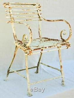 Late 19th century Arras garden armchairs (two pairs available)