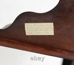 Late 19th century Victorian English Burl Walnut What-Not Corner Shelf 4 tiers