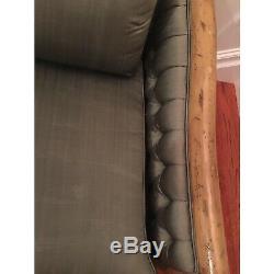 Late 20th Century Hollywood Regency Silk Tufted Sofa
