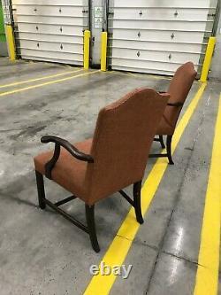 Late 20th Century Queen Ann Style Arm Chairs a Pair