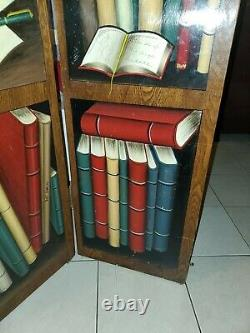 Late 20th Century Solid Wood Library Privacy Screen/Room Divider Painted