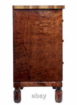 Late Art Deco Birch Inlaid Chest Of Drawers
