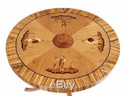 Late Art Deco Elm Inlaid Coffee Table