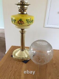Late Victorian Early Edwardian Oil Lamp Complete