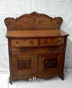 Late Victorian Oak Server / Sideboard