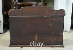 Late Victorian Oak Table or Desktop Secretary Organizer File Cabinet Topper 21