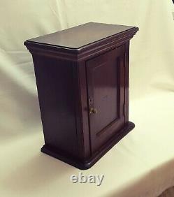 Late Victorian oak wall hanging or freestanding cupboard with single panel door