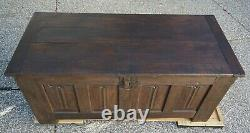 Late medieval French oak chest, 15th century and later