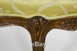 Louis XV Style Carved Beechwood Antique Canape Sofa Settee, late 19th Century