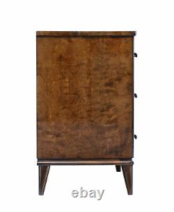 MID 20th Century Late Art Deco Swedish Birch And Elm Chest Of Drawers