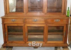 Massive, French Walnut Apothecary Cabinet with Sliding Doors Late 19th century