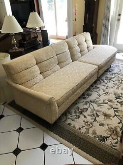Mid Century Modern 2 Piece Couch Sofa late 1950's HOLLYWOOD, VEGAS, RAT PACK ERA
