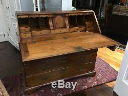 Monumental Antique Late 18th Century English Secretary Desk Chest of Drawers