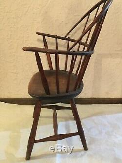 Original Antique Late 1700s/Early 1800s Sack Back Windsor Chair-Impressive