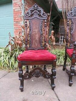Outstanding Antique Carved Jacobean Chair Possible Late 1800s Early 1900s