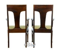 Pair Of Late 19th Century Oak Arts And Crafts Armchairs