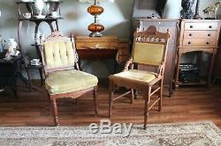 Pair of Antique Eastlake Chairs Late 1890's