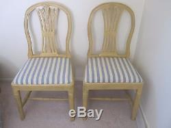 Pair of Swedish, Gustavian chairs late 18th-early 19th century. Offers welcome