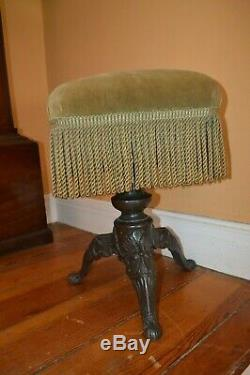 Piano or Foot Stool Late Victorian 1890 Iron Construction