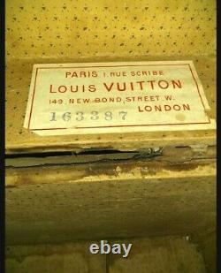 RARE Antique late 1890s Louis Vuitton Wood Steamer Trunk Chest. Needs TLC