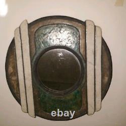 RARE Art Deco Secessionist Metallic Enameled Wall mirror late 20s