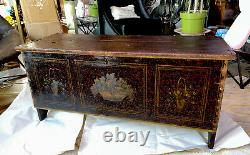 Rare Antique Late 18th Century American Folk Art Painted Blanket Chest