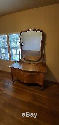 Serpentine Front Antique Dresser Peck And Hill's Chicago late1800s early1900s