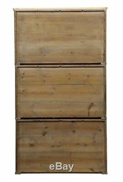 Set Of 3 Stackable Late 19th Century Cupboards