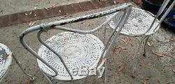 Set of 4x, Antique French Garden Chairs Wrought-Iron ORIGINAL Late 19th Century