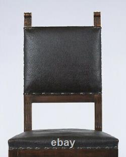 Set of Six Late 19th Century Renaissance Leather Dining Chairs