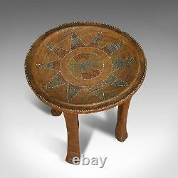 Small Antique Tribal Side Table, Australian, Lamp, Stool, Late Victorian, C. 1900