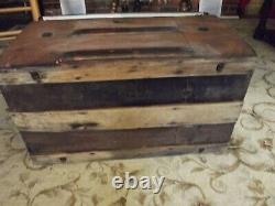 Steamer trunk, antique, late 1800's or early 1900's