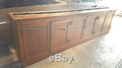 Stunning Late 19th Century 10ft Oak Lawyers Schoolhouse Bookcase FREE SHIPPING