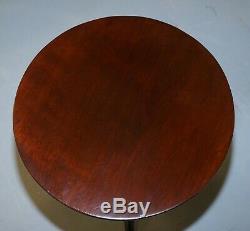 Stunning Late Georgian / Early Victorian Mahogany Tripod Table Solid Mahogany