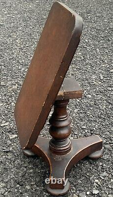 Superb C1850 Late Classical Miniature Tilt Top Table On Lovely Turned Pedestal