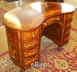 Superb Victorian Late 19th Century Inlaid Desk Attributed to RJ Horner
