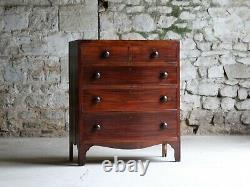 Tall Mahogany Chest of Drawers, English Late 19th Century