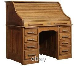Traditional, Victorian, Late 19th Century American Made, Vintage Rolltop Desk