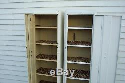 Two (2) Cresteel (circa late 30's) antique kitchen pantry vintage steel cabinets
