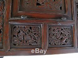 Very Rare Korean Late Joseon Dynasty Longevity Hand Carved Chest MuhLeeJang